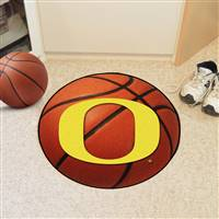 "Oregon Ducks Basketball Rug 29"" diameter"