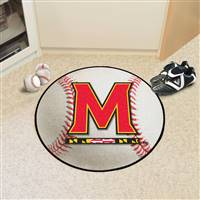 "Maryland Terrapins Baseball Rug 29"" diameter"