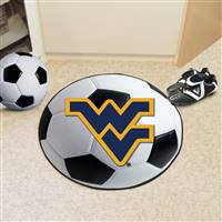 "West Virginia Mountaineers Soccer Ball Rug 29"" diameter"
