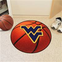 "West Virginia Mountaineers Basketball Rug 29"" diameter"