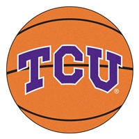 "Texas Christian (TCU) Horned Frogs Basketball Rug 29"" diameter"