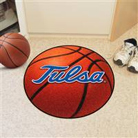 "Tulsa Golden Hurricane Basketball Rug 29"" diameter"