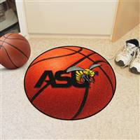 "Alabama State Hornets Basketball Rug 29"" diameter"