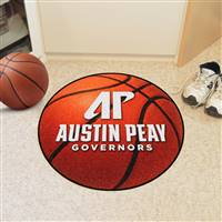 "Austin Peay State Governors Basketball Rug 29"" diameter"