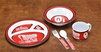 Oklahoma Sooners Kid's 5 Pc. Dish Set