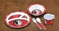 BSI Products Florida State Seminoles Kid's 3 Piece Dish Set