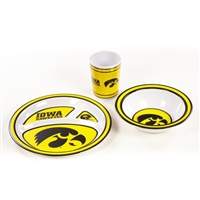 BSI Products Iowa Hawkeyes Kid's 3 Piece Dish Set