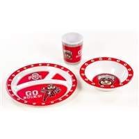 Ohio State Buckeyes Kid's 3 Pc. Dish Set