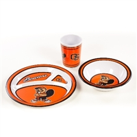 Oregon State Beavers Kid's 3 Pc. Dish Set