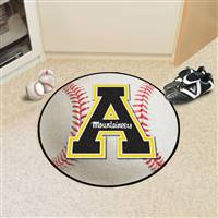 "Appalachian State Mountaineers Baseball Rug 29"" Diameter"