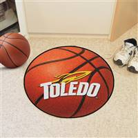 "Toledo Rockets Basketball Rug 29"" diameter"