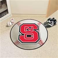 "North Carolina State Wolfpack Baseball Rug 29"" Diameter"