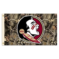 BSI Products Florida State Seminoles 3 Ft. X 5 Ft. Flag With Grommets - Realtree Camo