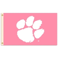 Clemson Tigers 3 Ft. X 5 Ft. Flag W/Grommets - Pink Design
