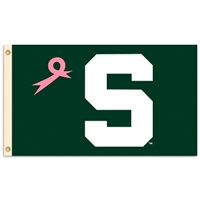 Michigan State Spartans 3 Ft. X 5 Ft. Flag W/Grommets - Pink Design