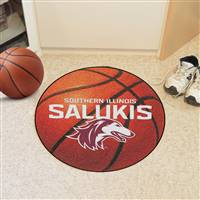 "Southern Illinois Salukis Basketball Rug 29"" diameter"