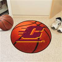 "Central Michigan Chippewas Basketball Rug 29"" Diameter"