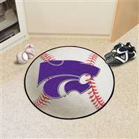 "Kansas State Wildcats Baseball Rug 29"" diameter"