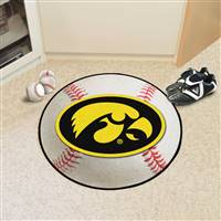"Iowa Hawkeyes Baseball Rug 29"" diameter"