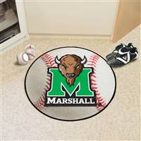 "Marshall Thundering Herd Baseball Rug 29"" Diameter"