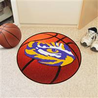 "Louisiana State LSU Tigers Basketball Rug 29"" Diameter"