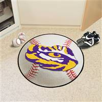 "Louisiana State LSU Tigers Baseball Rug 29"" Diameter"