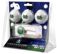 Marshall Thundering Herd 3 Ball Gift Pack w/ Cap Tool