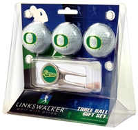 Oregon Ducks 3 Ball Gift Pack w/ Cap Tool