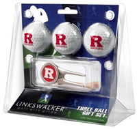 Rutgers Scarlet Knights 3 Ball Gift Pack w/ Cap Tool