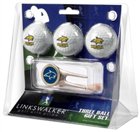 Montana State Bobcats 3 Ball Gift Pack w/ Cap Tool