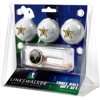 Vanderbilt Commodores 3 Ball Gift Pack w/ Cap Tool