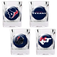 Houston Texans 4pc Square Shot Glass Set (Individual Logos)