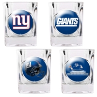 New York Giants 4pc Collector's Shot Glass Set