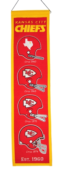 Kansas City Chiefs Heritage Wool Banner