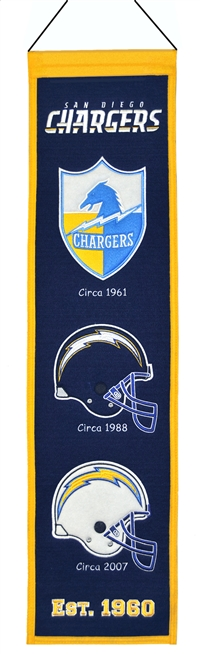 San Diego Chargers Heritage Wool Banner