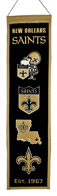 New Orleans Saints Heritage Wool Banner