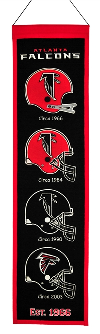 Atlanta Falcons Heritage Wool Banner