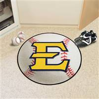 "East Tennessee State Buccaneers Baseball Rug 29"" diameter"