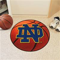 "Notre Dame Irish Basketball Rug 29"" Diameter"