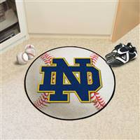 "Notre Dame Irish Baseball Rug 29"" diameter"