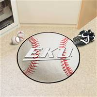 "Eastern Kentucky Colonels Baseball Rug 29"" diameter"