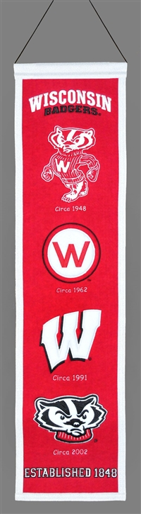 Wisconsin Badgers Heritage Wool Banner
