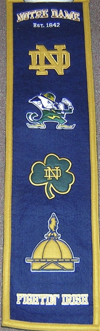 Notre Dame Heritage Wool Banner