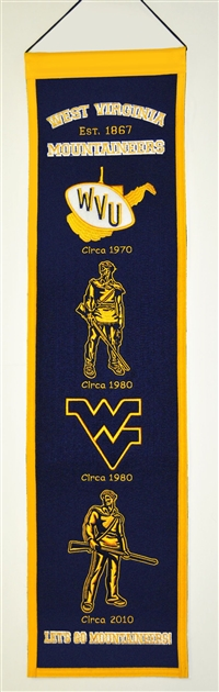 West Virginia Mountaineers Heritage Wool Banner