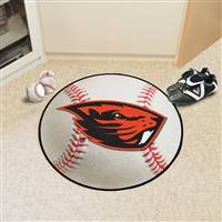 "Oregon State Beavers Baseball Rug 29"" diameter"