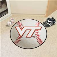 "Virginia Tech Hokies Baseball Rug 29"" Diameter"