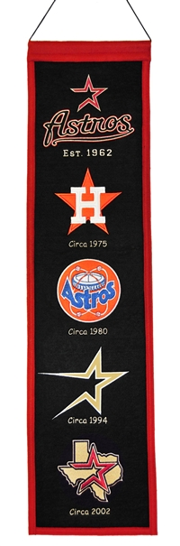 Houston Astros Heritage Wool Banner