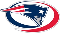 New England Patriots Diecut Window Film