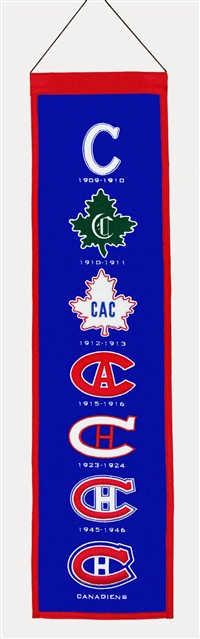 Montreal Canadiens Heritage Wool Banner