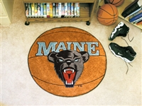 "Maine Black Bears Basketball Rug 29"" diameter"